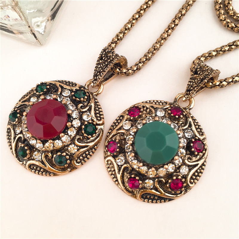 Alloy Vintagenecklace(red) NHVA4812-red