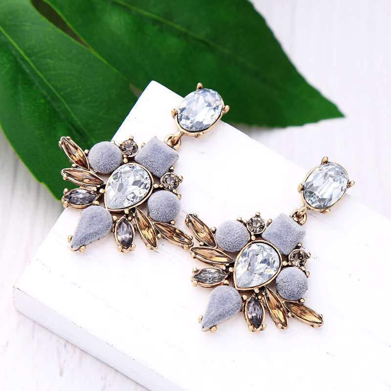 Alloy Fashion Flowers earring(Photo Color) NHQD5143-Photo Color