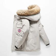 厂家直销速卖通户外运动加厚保暖大毛领休闲加拿大?#20449;?#30701;款羽绒服