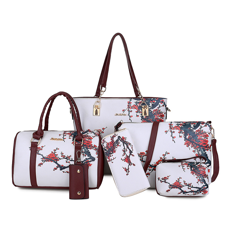 Women's Autumn Foreign Trade New Style Six-piece Package Spraying Single-shoulder Diagonal Bag