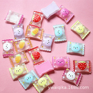 Strawberry rabbit candy diy jewelry material cream glue stationery box mobile phone shell beauty resin accessories radish