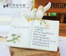 迷你復古唯美小鳥英文圣經樹脂書 淘寶拍攝道具zakka拍照擺件小物
