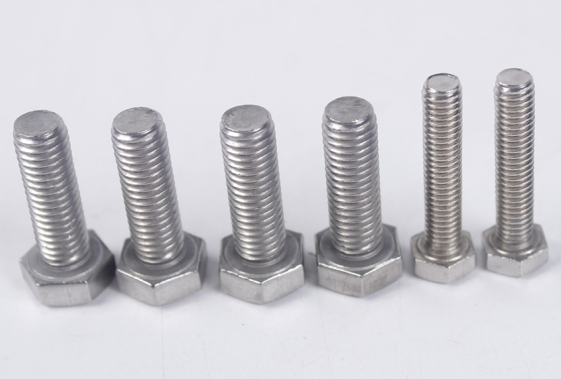 M12 外六角螺栓 304不锈钢螺丝 全牙螺栓 M12*16-12*260  DIN933