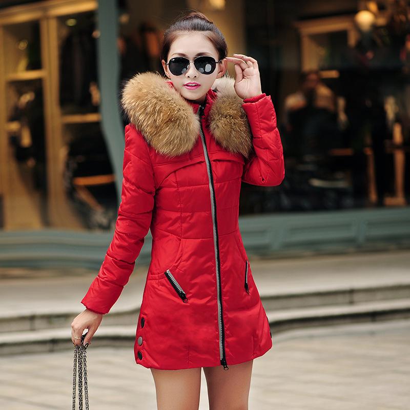 棉衣女2018中长新款韩版修身外贸加厚羽绒棉衣加肥加大码保暖外套