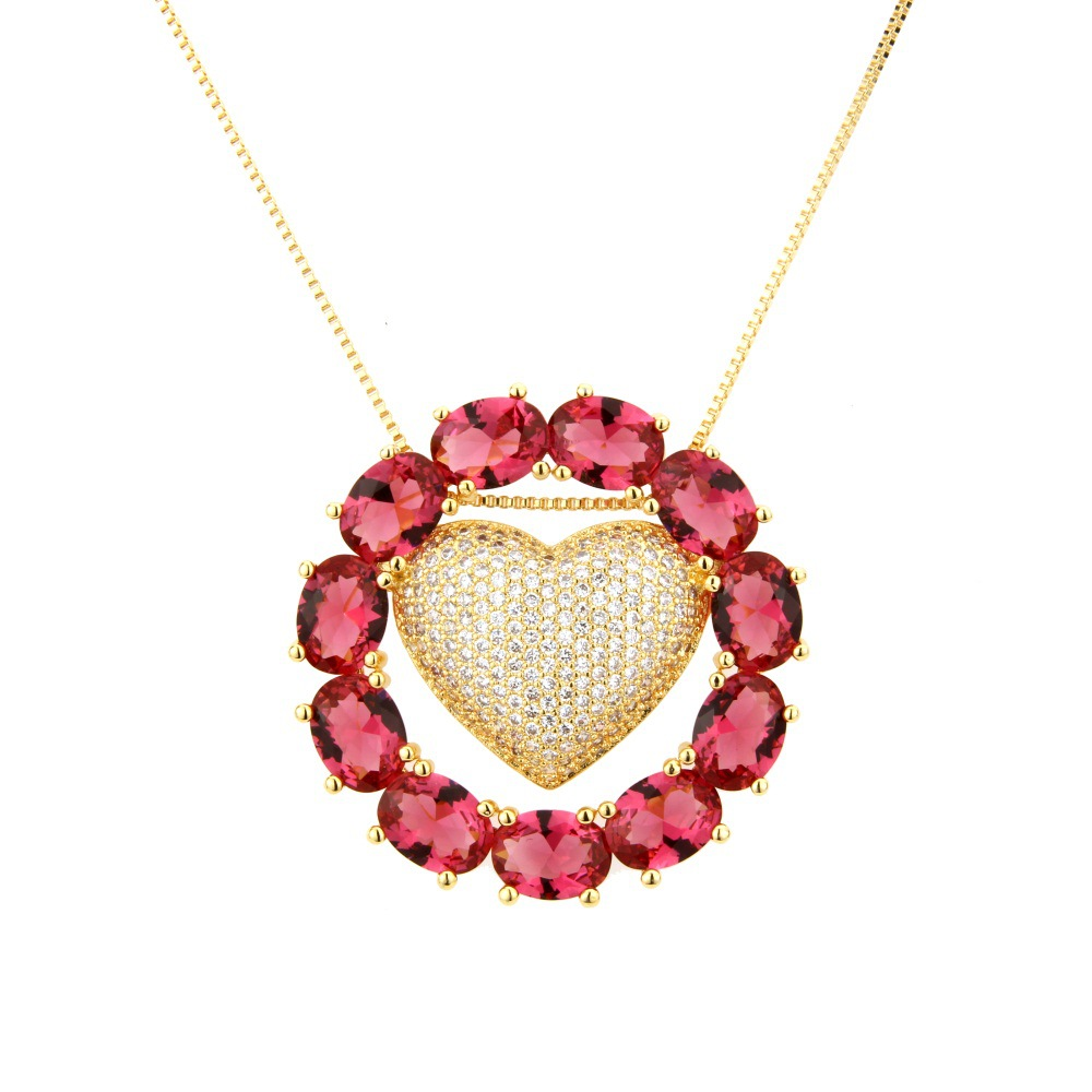 Copper Fashion Geometric necklace  (Alloy) NHBP0263-Alloy