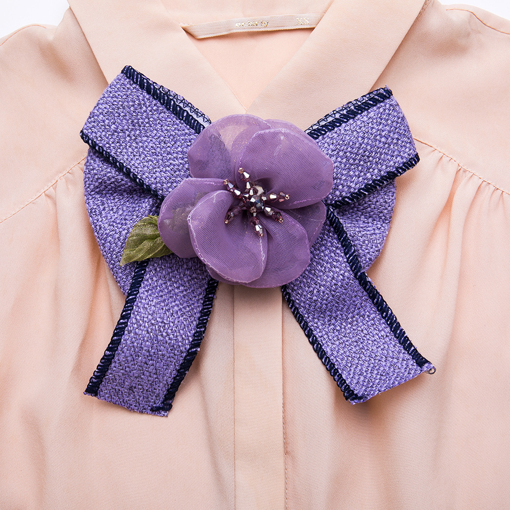 Alloy Fashion Bows brooch(purple) NHJE1176-purple