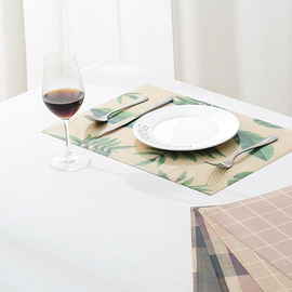 Non-slip Western food mat rectangular insulation mat PP thick gilded cloth table mat dining table mat coaster table cloth