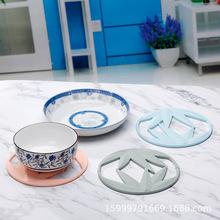 创业新款硅胶隔热垫 圆形杯垫竹叶形桌垫防滑垫锅垫厂家大量供货