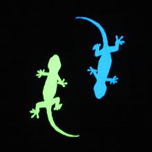 跨境新款蓝光夜光精雕墙贴开关贴壁虎荧光墙贴纸厂家批发代发