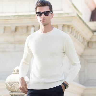 艾蒂思顿2018秋冬新品男式纯羊毛针织衫长袖套头 男士毛衣男装