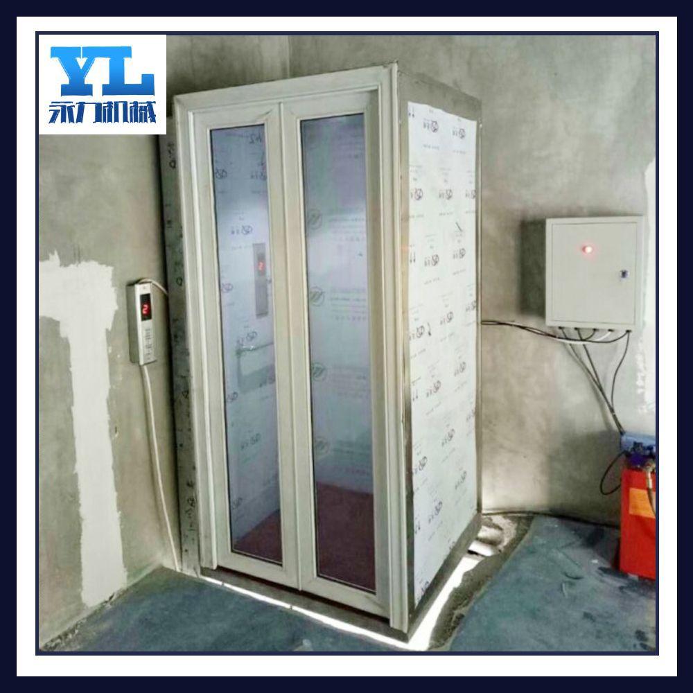 老年人无障碍座椅升降平台三层家用电梯 别墅小型电梯