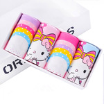 Cartoon childrens underwear, babys underwear, girls flat-angle underwear, girls four-cornered shorts, childrens underwear in four boxes