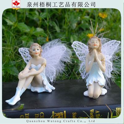 微景观摆件 样板房家居软装装饰蛋糕情景摆件树脂花仙子天使摆件