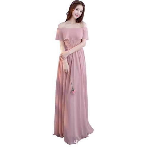 pink grey Bridesmaid Dress Bridesmaid Wedding Bridesmaid group sister dress bridesmaid dress party dress banquet evening dress