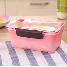 廠家批發pp塑料飯盒 保鮮午餐盒帶出氣孔分層分隔便當盒可訂制