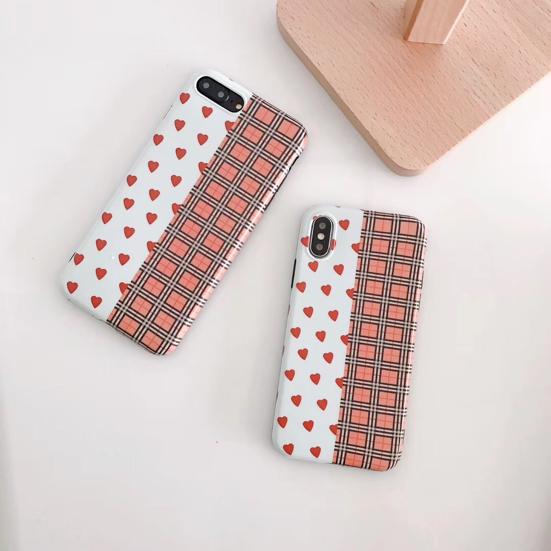 South Korea ins with the same love for iphoneXS mobile phone shell imd creative color matching apple 8p mobile phone case