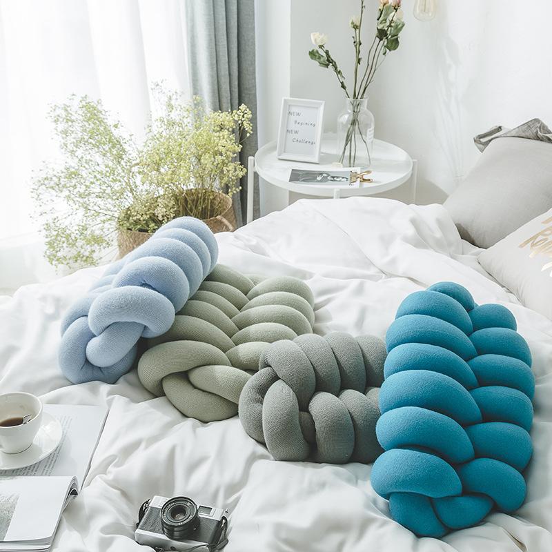 Handmade Knot Sofa Cushion Living Room Bedroom Chair Pure