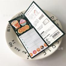 出口日本早餐记事本 蛋糕水果便签本定制 创意笔记本便利贴