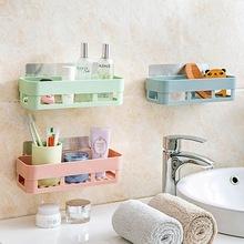 卫生间置物架 墙上挂架 浴室置物架 免打孔厕所吸壁式吸盘置物架