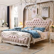 橡木床欧式床 公主床全实木床双人床1.8米婚床 实木家具厂家直销