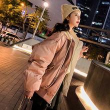 冬韩版棉衣女双面穿面包短款ins宽松bf棒球服加厚飞行员夹克外套