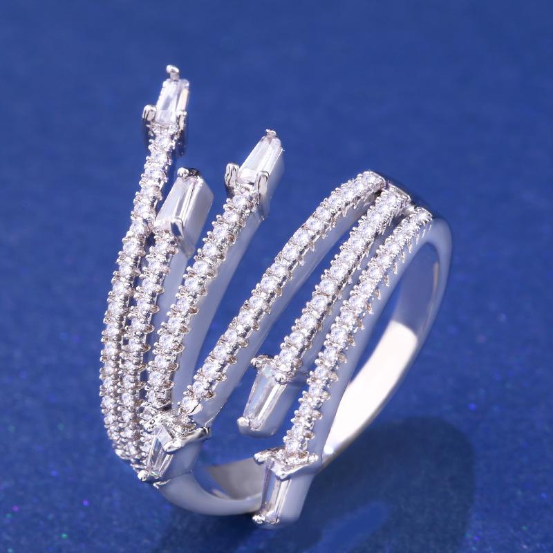 Copper Fashion Geometric Ring  Alloy  Fine Jewelry NHAS0317Alloy