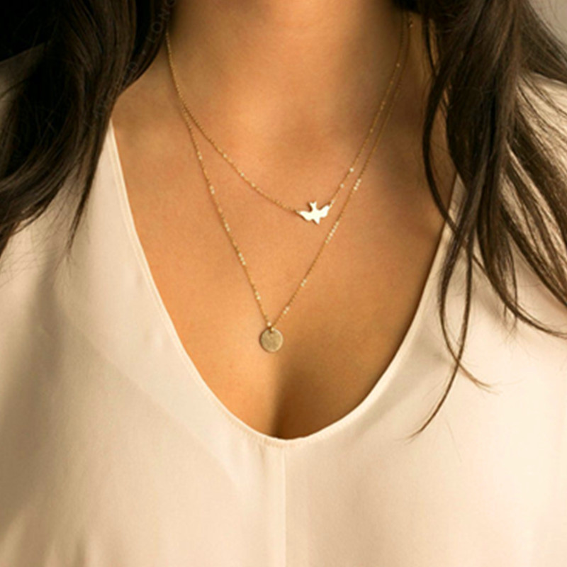 New Peace Dome Alloy Necklace NHPF151521