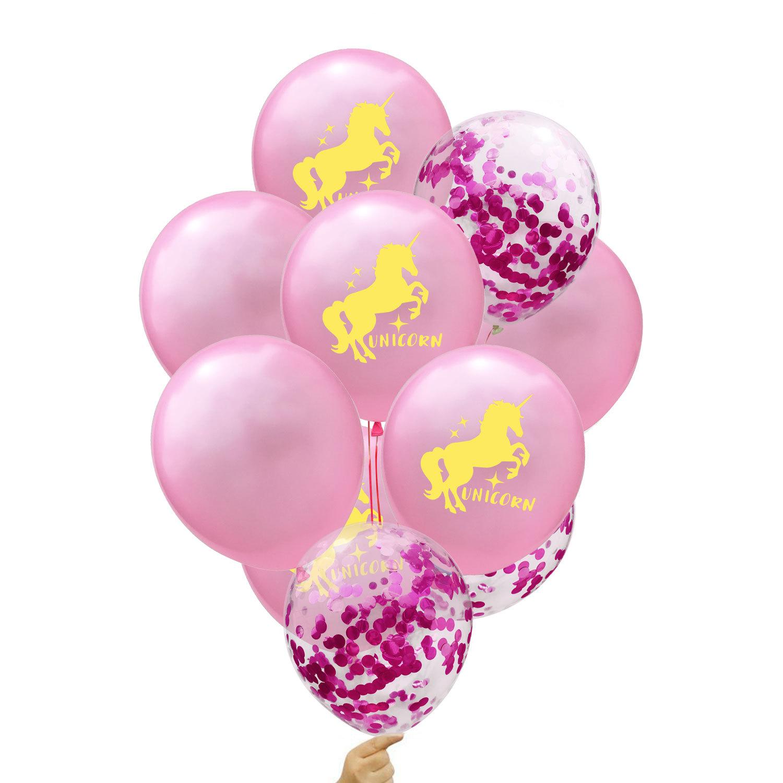 Unicorn Latex Balloon 12-inch Multi-Colors Set