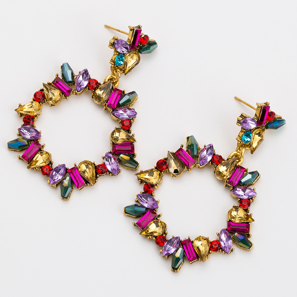 Acrylic Fashion Geometric earring  Red color  Fashion Jewelry NHJE2556Redcolor