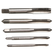 Straight groove taps for hand machines M3-M8 rapid tapping five-piece set of internal thread hardware tools