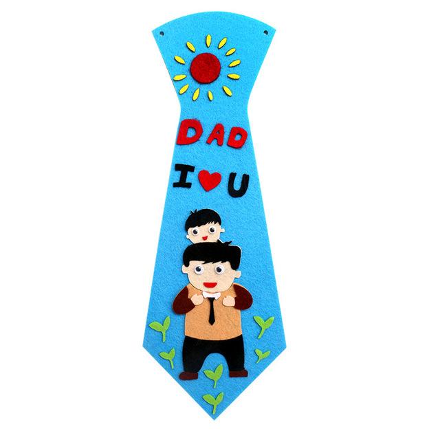 Mẫu giáo đồ chơi trẻ em làm bằng tay sáng tạo gói quà tặng Ngày của cha không dệt DIY tie bán buôn Đồ chơi lễ hội