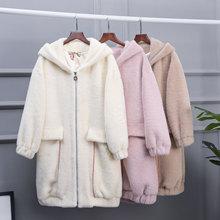 2018冬季新款韩版大码高贵气质女装仿水貂毛呢大衣厚实保暖外套