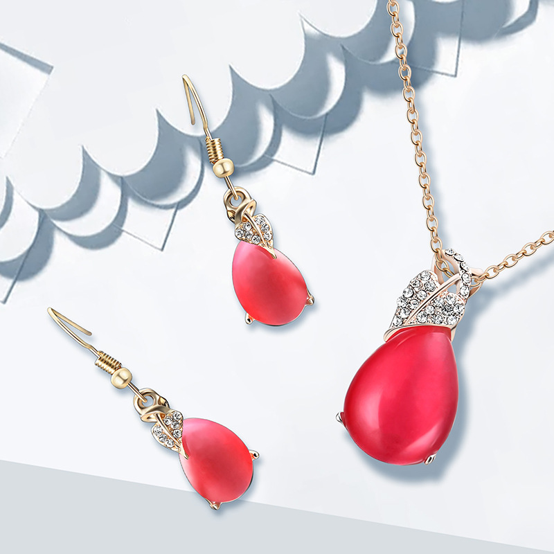 Alloy Korea  necklace  61172387 red NHXS177861172387red