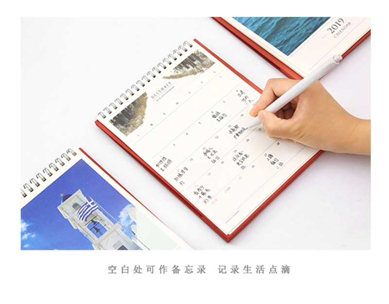 Calendars, Planners & Cards Office & School Supplies 2019 Creative Venice Aegean Sea Church Table Desktop Calendar Agenda Organizer Daily Scheduler Planner 2018.06~2019.12