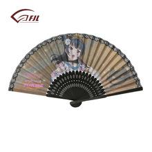 广告扇子高档竹子印花女扇 精品竹子促销纸折扇 来样定做