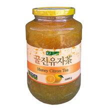 韩国原装进口冲调饮品 75%含量 kj蜂蜜柚子茶1000g 单瓶 批发
