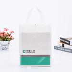 彩印覆膜无纺布手提袋定做环保服装购物袋折叠广告平口袋定制