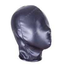 艾斯乐成人情趣黑色软PU全包头套面具皮革面罩惩罚束缚品厂家批发