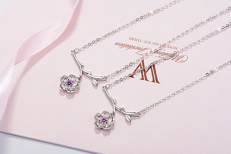 Muye 925 Sterling Silver Star Moon Pendant Necklace For Fashion Women DZ363
