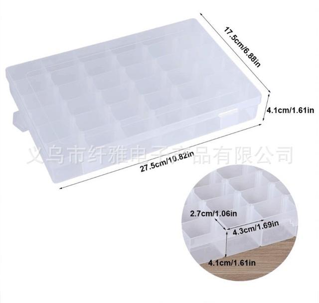 36格透明塑料首饰盒饰品储物可拆分电子皮筋配件串珠收纳包装盒