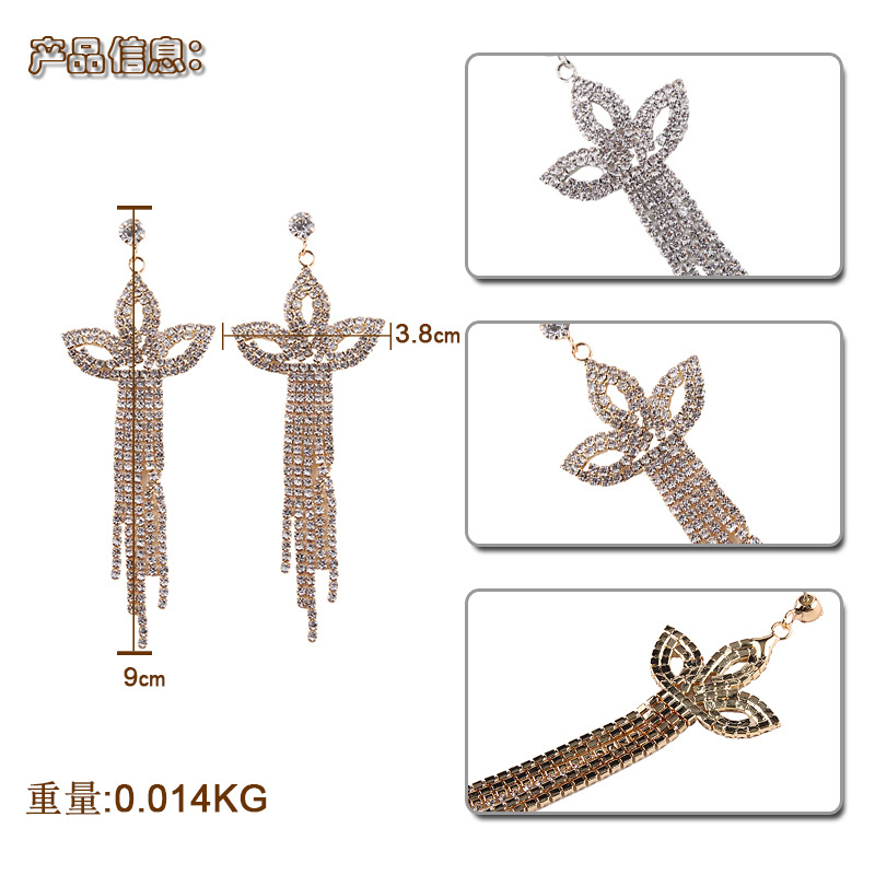 Alloy Fashion Geometric earring(Golden) NHJQ10104-Golden