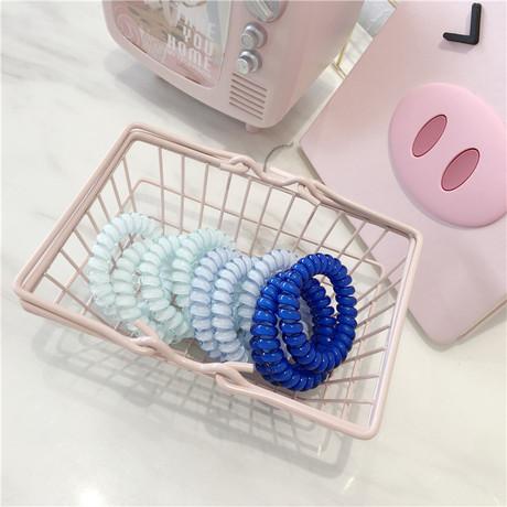 Nhỏ tóc tươi phụ kiện màu gradient điện thoại dây tóc vòng đầu dây kết hợp thạch màu trong suốt lớn dây tóc đàn hồi