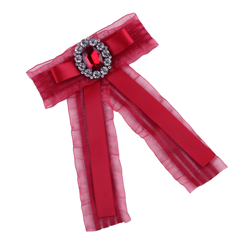 Alloy Korea Bows brooch(red) NHJQ10115-red