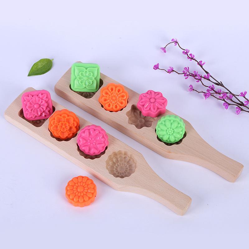月饼烘焙模具木质冰皮模绿豆糕南瓜紫薯饼干面食模具