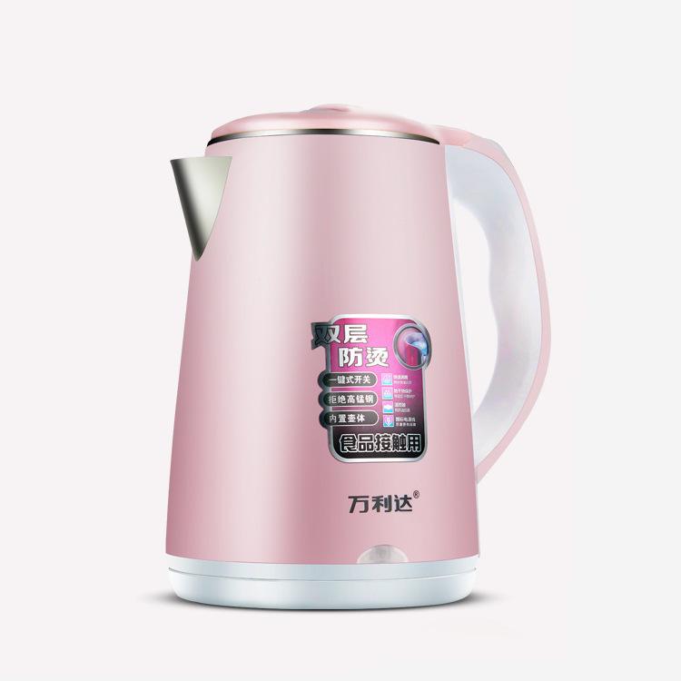 电热水壶 快速烧水壶 双层食品级不锈钢内胆防烫保温壶 LOGO定制