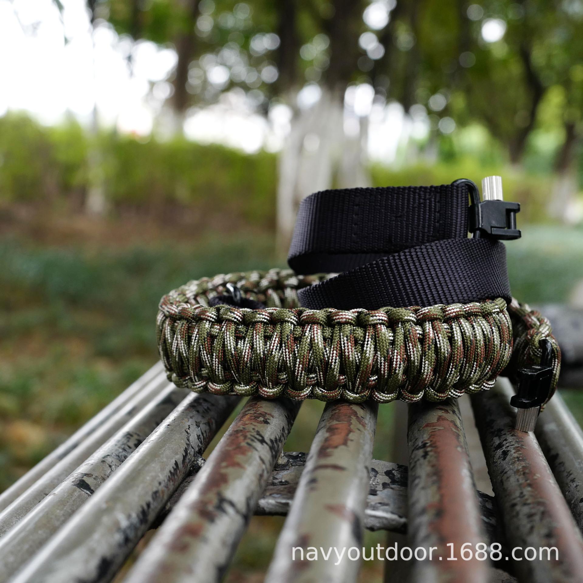 户外七芯伞绳编织肩带 高品质 野战装备 纯手工编织 批发
