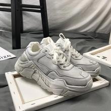 1831 骷髅韩版情侣运动鞋超火做旧小脏鞋街拍复古学生厚底增高鞋