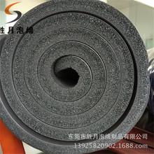 厂家生产隔音背胶密封条泡棉 橡胶发泡NBR单面皮高弹缓冲发泡条
