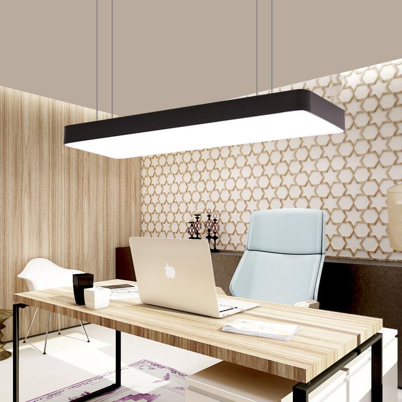 工厂直销长条办公室灯办公照明工程灯工作室商场现代简约LED吊灯