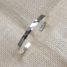 创意设计手工纯银素银鳞光细手镯开口镯子简约手镯